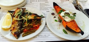 Fried Mackarel and Sweet Potato @Arabica Bar and Kitchen, Borough Market