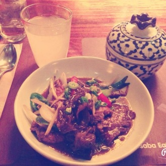 Ginger Beef @Busaba Eathai, Bond Street