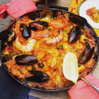Paella Platter at Jamon Jamon, Soho